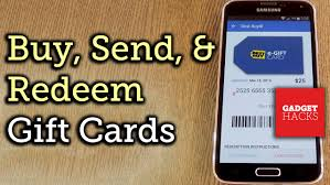 mobile gift cards upload buy send receive gift cards on android or ios how to