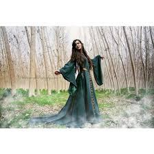celtic princess green wool costume medieval dress polyvore