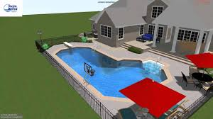 Precision Pools Houston by Callis True L Pool With Custom Bench From Swim World Pools Youtube