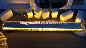 yellow led warning light bar 63inch warning lights