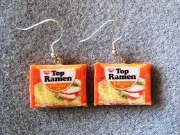 food earrings on my wish list kitschy food earrings ramen noodles junk food