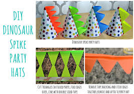 diy dinosaur tails spike party hats and favors this loversiq