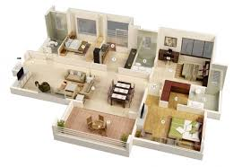 simple 3 bedroom house plans 3 bedroom design house plans 3d 4 simple without garage houses