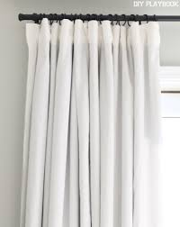 How To Make Room Darkening Curtains How To Make No Sew Black Out Curtains Window Bedrooms And
