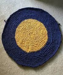 Crochet Doormat Circular Rag Rug Crocheted 6 Steps With Pictures