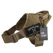 onetigris tactical k9 training vest adjustable service dog harness