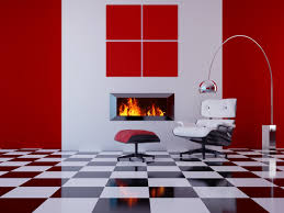 kitchen wall design with red decor ideas and brown floor idolza