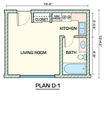 efficient studio apartment floor plans to have for single owner