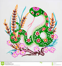 snake color paper cutting chinese zodiac stock photos image