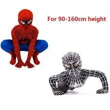 Boys Spider Halloween Costume Childs Black Spiderman Costume Boy Spider Man Kids Superhero Lycra