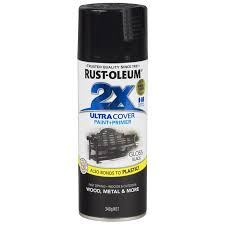 rust oleum 340g ultra cover 2x gloss black spray paint bunnings