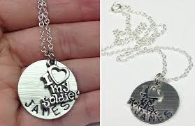 Customized Necklace I Love My Soldier