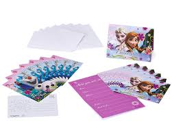 frozen party invitations and thank yous birthday girls wikii
