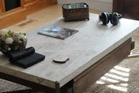 travertine coffee table square contemporary travertine coffee table cole papers design