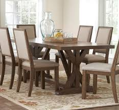 farmhouse dining set white carpet on the wooden floor cream paint