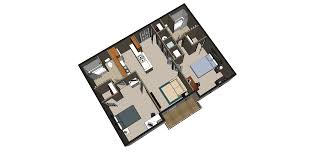 layout typical unit hawk plaza