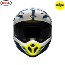 bell helmets motocross 2018 bell mx 9 mips helmet torch white blue yellow