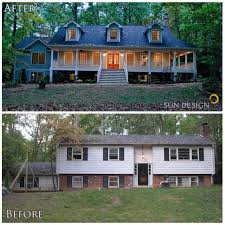 front porch designs for split level homes 20 home exterior makeover before and after ideas exterior makeover