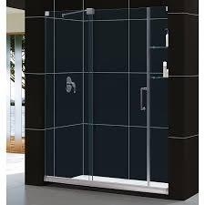 dreamline mirage 56 60 in width frameless sliding shower door 3
