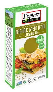 cuisine lasagne organic green lentil lasagne pulse pastas products