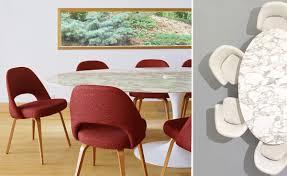 saarinen dining table natural marbles hivemodern com