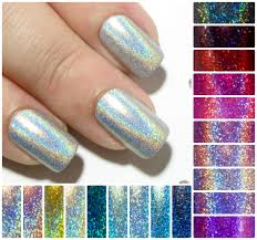 square fake nails holographic false nails short press on