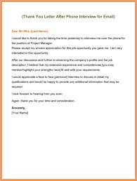 Thank You Letter Sles After send thank you letter after phone 5 best exles