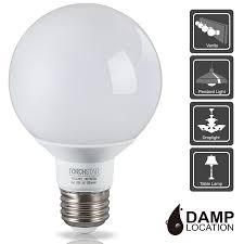 battery operated vanity lights 5w g25 globe led light bulb energy star damp location available