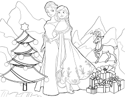 anna clipart christmas coloring sheet