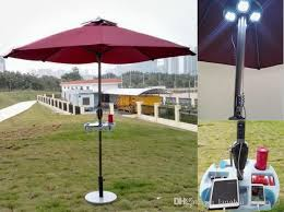 Patio Bar With Umbrella Solar Sun Umbrella With Solar Panels Charger For Iphone Ipad Etc
