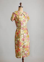 Summer Garden Dresses - vintage 1960s summer garden floral silk dress raleigh vintage