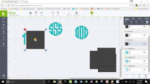 How To Weld In Cricut Craft Room - how to use monogramos font in cricut design space youtube
