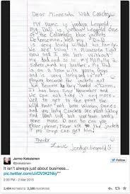 jordan leopold u0027s daughter writes letter to bring her dad to