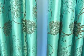Teal Taffeta Curtains Teal Taffeta Curtains Teal Faux Taffeta Silk Curtains Mirak Info