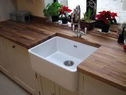 belfast sink kitchen belfast ceramic sink set in rustic oak worktop kitchen ideas