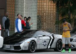 bugatti chris brown chris brown in his customized jet fighter lamborghini gallardo