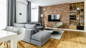 modern metalic wooden white theme three bedroom apartment in