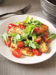 recttes cuisine entrée de tomates au fromage grillé à la fleur d ail ricardo