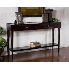 Dark Wood Sofa Table Black Wooden Console Table