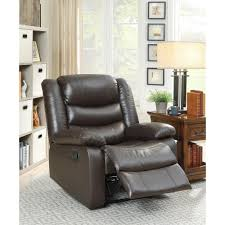 Pictures Of Living Rooms With Leather Chairs Modern Recliner Chairs Living Room Furniture The Home Depot