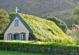 green church inhabitat green design innovation architecture 19th century green roofed icelandic church is straight out of a fairy tale
