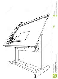 Engineering Drafting Table by Drawing Table Vector 03 Royalty Free Stock Image Image 17080136