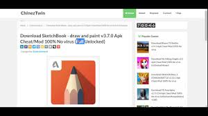 download sketchbook draw and paint v3 7 0 apk cheat mod 100 no