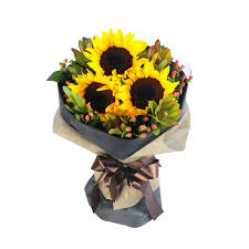 sunflower bouquet bouquets flowers 3 sunflower in a bouquet delivery to