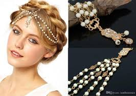 hair accessories for indian weddings 2017 bohemian wedding bridal hair accessories chains for women