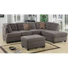 leather and microfiber sectional sofa microfiber sectional sofas you ll love wayfair