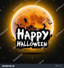 happy halloween sign theme design background stock vector