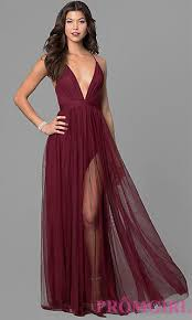 prom dress with v neckline promgirl