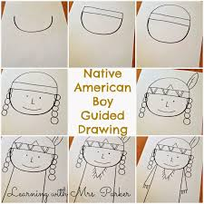 thanksgiving drawings step by step guided drawings of pilgrims and native americans learning with