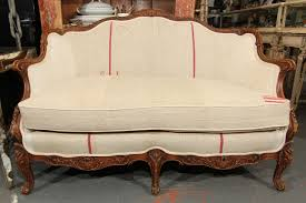 French Settee Loveseat French Settee In Grainsack For Sale At 1stdibs